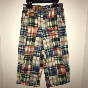 Gap plaid patchwork pants